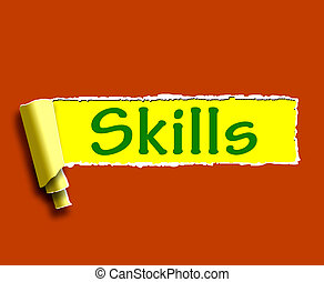 Skills Word Shows Training And Learning On Web
