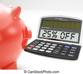 Twenty-Five Percent Off Calculator Means Savings -...