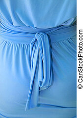 dress with bow - female blue dress with bow