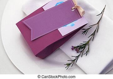 bag with chocolates