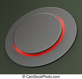 Blank Push Button Or Switch Shows Copy space - Blank Push...