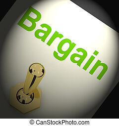 Bargains Switch Shows Discount Promotion Or Markdown -...