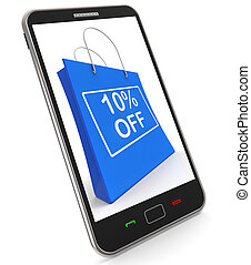 Shopping Bag Shows Sale Discount Ten Percent Off 10 -...