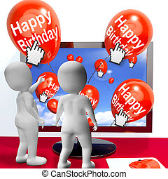 Happy Birthday Balloons Show Festivities and Invitations Interne