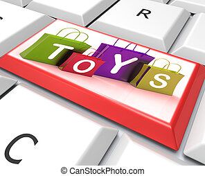 Toys Bags Key Shows Retail Shopping and Buying