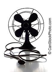 Antique Fan - Antique fan on white background