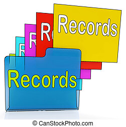 Records Folders Shows Files Reports Or Evidence - Records...