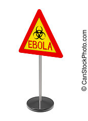 Ebola biohazard sign isolated on white 3d render