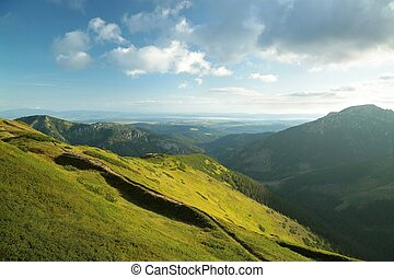 Polish Tatras at dawn - View from the top of Trzydniowanski...
