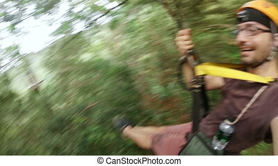 Zipline flying extreme sports, phuket, thailand