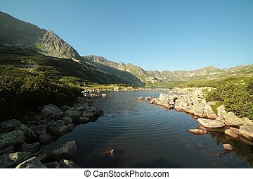 Valley of five ponds in Tatras - Valley of five ponds in the...