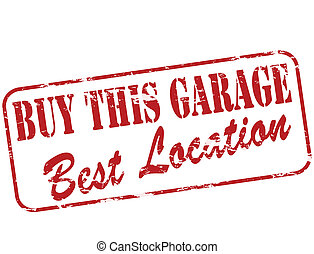 Buy this garage - Rubber stamp with text buy this garage...