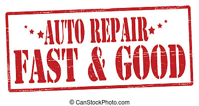 Auto repair - Rubber stamp with text auto repair inside,...