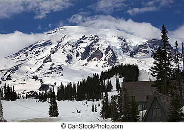 Mount Rainier Paradise Inn - Mount Rainier Paradise Inn Snow...