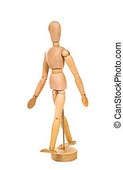 Artist poser - A artist wooden poser on a white background,...