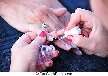 Diverse beauty nail shoot 1 - Diverse beauty nail shoot at a...