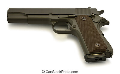colt government m1911 on white background