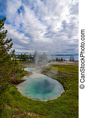 West Thumb Geyser Basin Yellowstone - Thumb Paint Pots...