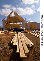 New house under construction - New home under construction...