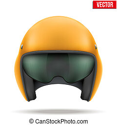 Aaircraft marshall helmet. Vector. - Military Orange...