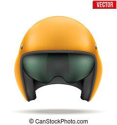 Aaircraft marshall helmet. Vector. - Military Orange...
