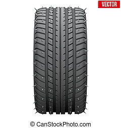 winter tires with metal spikes. - Winter tires with metal...