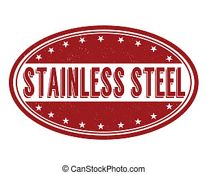 Stainless steel stamp - Stainless steel grunge rubber stamp...