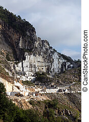 Carrara marble quarries. The marble from Carrara was used...