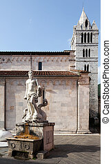 The 16th century fountain with a statue of Andrea Doria as...