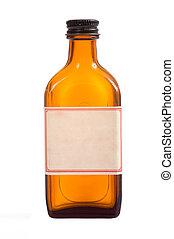 Antique brown prescription bottle - An antique brown...