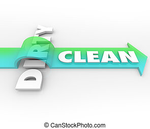 Clean Vs Dirty Arrow Over Word Cleanliness Wins Stay Safe...