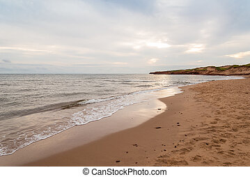 Cavendish beach in the morning Green Gables Shore, Prince...