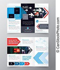 Tri fold Brochure Flyer design layout vector template in A4...