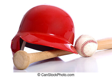 Baseball Items - Baseball items on a white background...
