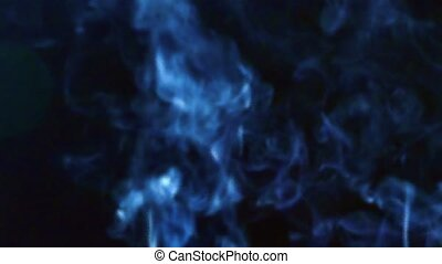 Smoke on black background with different color options