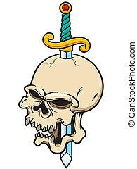 Skull - Vector illustration of Skull