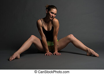 Leotard - Athletic young woman in a leotard