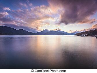 Lake Chuzenji in Nikko, Japan