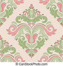 Damask Seamless Pattern. Abstract Background - Oriental...