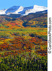 Kebler pass in autumn - Scenic autumn landscape at Kebler...