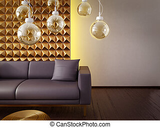 interior - modern interior room with a beautiful furniture