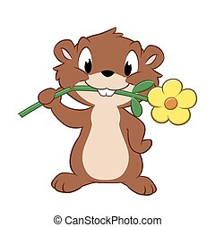 Cartoon Gopher - Vector illustration of a cartoon gopher...