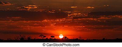 Sunset - Chobe N.P. Botswana, Africa - Sunset Over The Chobe...