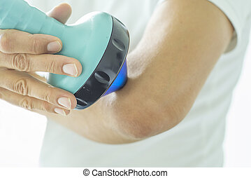 Shockwave Therapy on elbow - Shockwave therapy increases the...