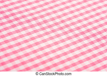 Pink Gingham Background - Gingham or checked tablecloth...