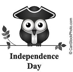 Independence Day - Comical bird Independence Day message...