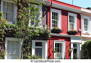 Notting Hill houses - Colorful houses in Notting Hill...