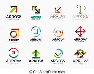 Collection of arrow company logos - Collection of 12 arrow...