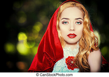thicket - Portrait of a stunning blonde lady in...