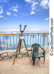 plataforma, periscopio, observación